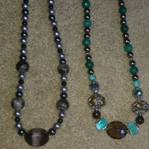 unbranded Jewelry - Bundle 5 Beaded Multicolor Necklace 10""